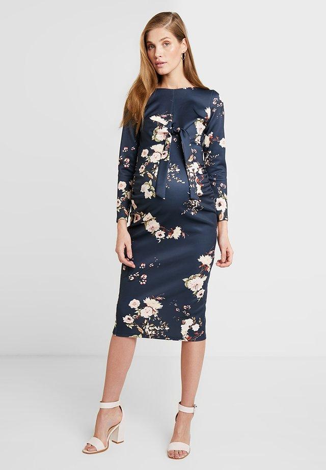 Day dress - navy print