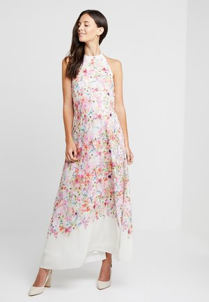 HI NECK MAXI TRAPEZE DRESS - Maxiklänning - cream border