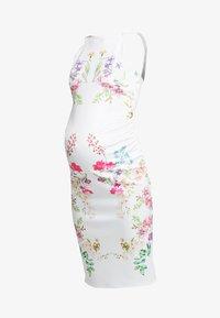 True Violet Maternity - STRAP BACK MIDI DRESS - Etui-jurk - white - 4