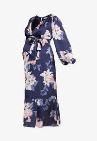 True Violet Maternity - WRAP LONG SLEEVES - Maxi šaty - blue - 4