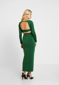 True Violet Maternity - OPEN BACK SPLIT MIDAXI - Maxi-jurk - jade