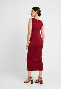 True Violet Maternity - MIDAXI DRESS WITH SPLIT - Etui-jurk - bordeaux - 3