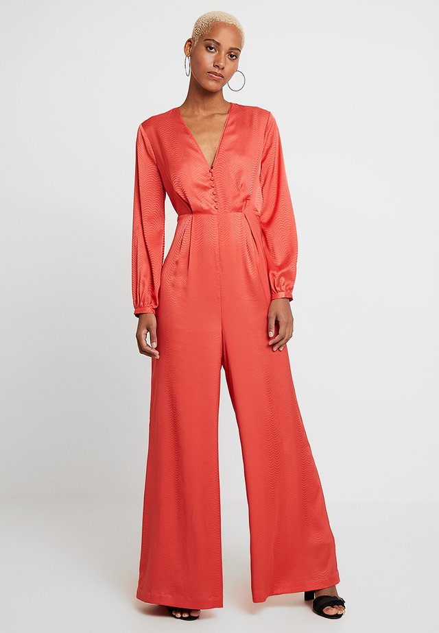 Overall / Jumpsuit /Buksedragter - bright coral