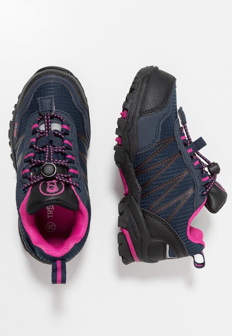 TrollKids - KIDS TROLLTUNGA LOW - Hiking shoes - navy/magenta