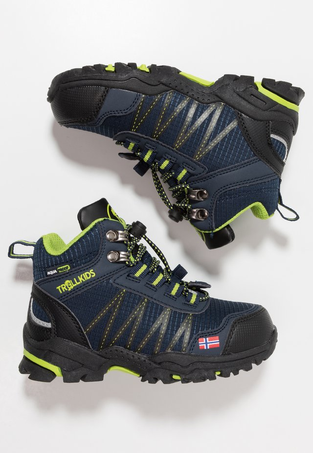 KIDS  MID - Hiking shoes - navy/viper green