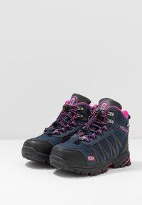 TrollKids - KIDS  MID - Hiking shoes - navy/magenta - 3