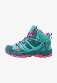 TrollKids - KIDS RONDANE HIKER MID - Hiking shoes - smaragd/rubine