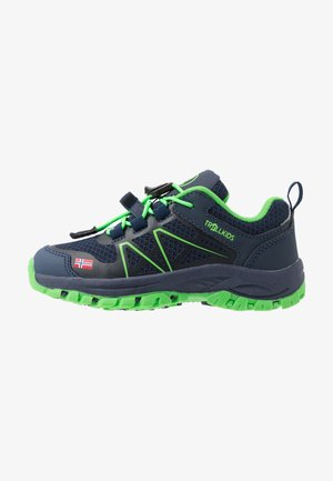 KIDS SANDEFJORD LOW - Hiking shoes - navy/green