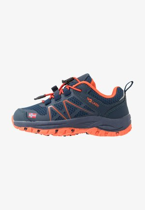 KIDS SANDEFJORD LOW - Trekingové boty - mystic blue/orange