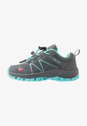 KIDS SANDEFJORD LOW - Hiking shoes - anthracite/mint