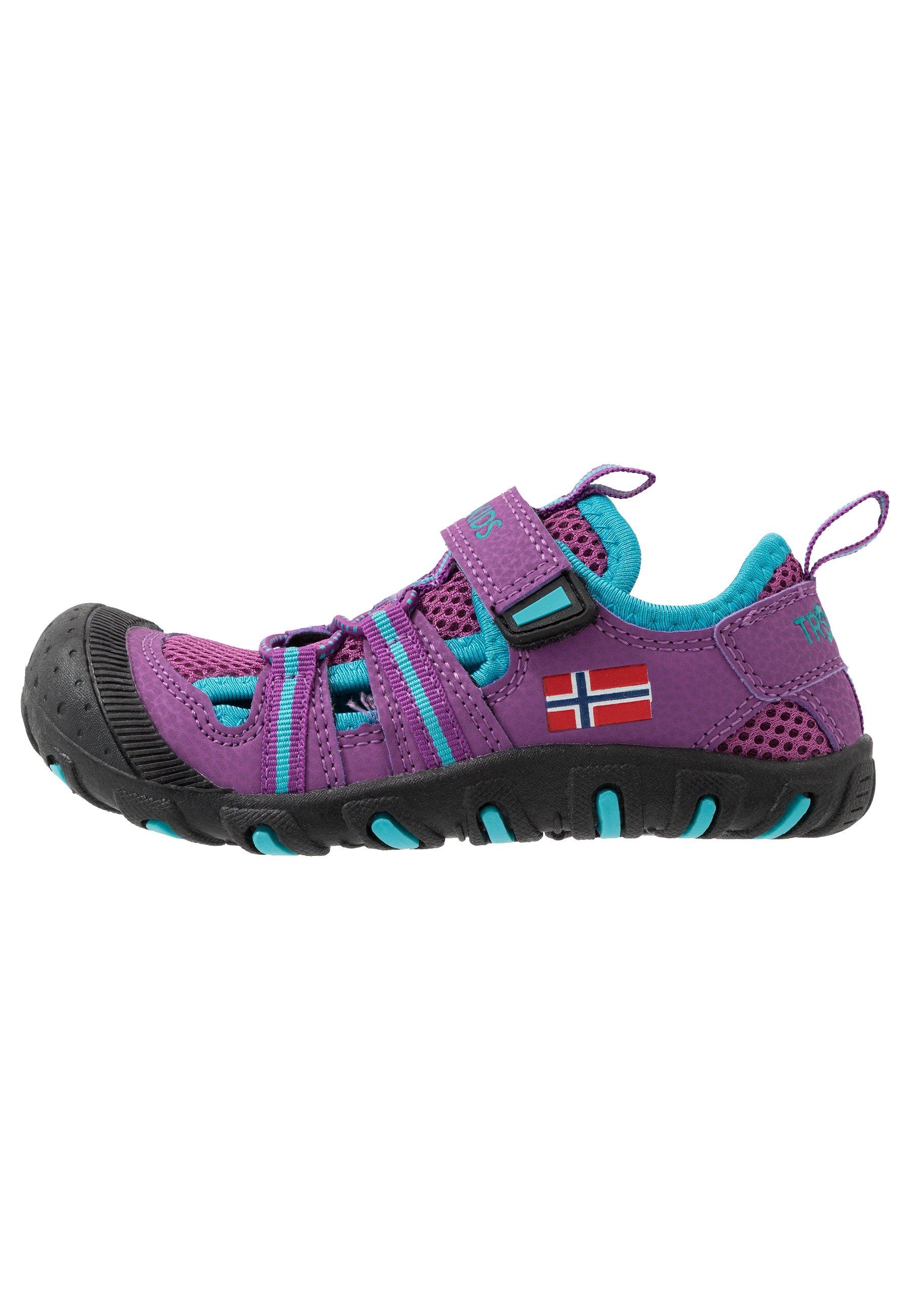 TrollKids KIDS SANDEFJORD - Sandały trekkingowe - fuchsia/turquoise