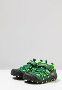 TrollKids - KIDS SANDEFJORD - Walking sandals - dark green/light green - 3