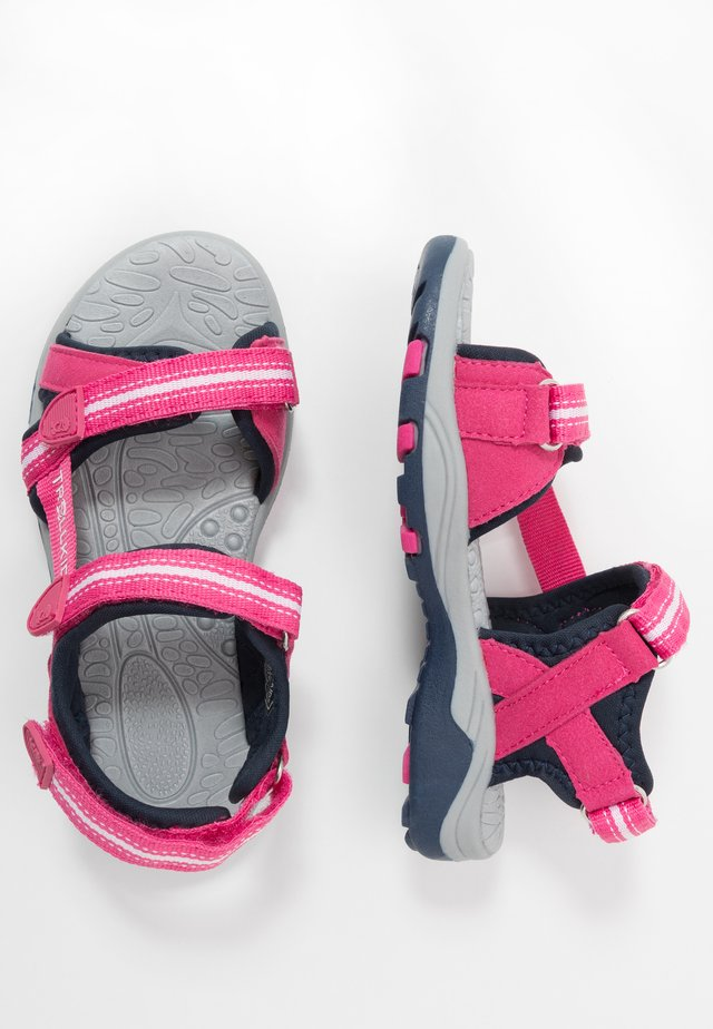 PREIKESTOLEN - Walking sandals - magenta/navy
