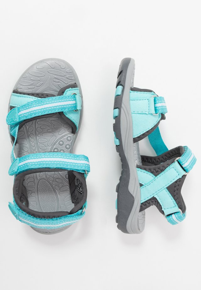 PREIKESTOLEN - Walking sandals - mint/grey