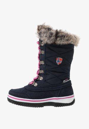 GIRLS HOLMENKOLLEN - Botas para la nieve - navy/magenta