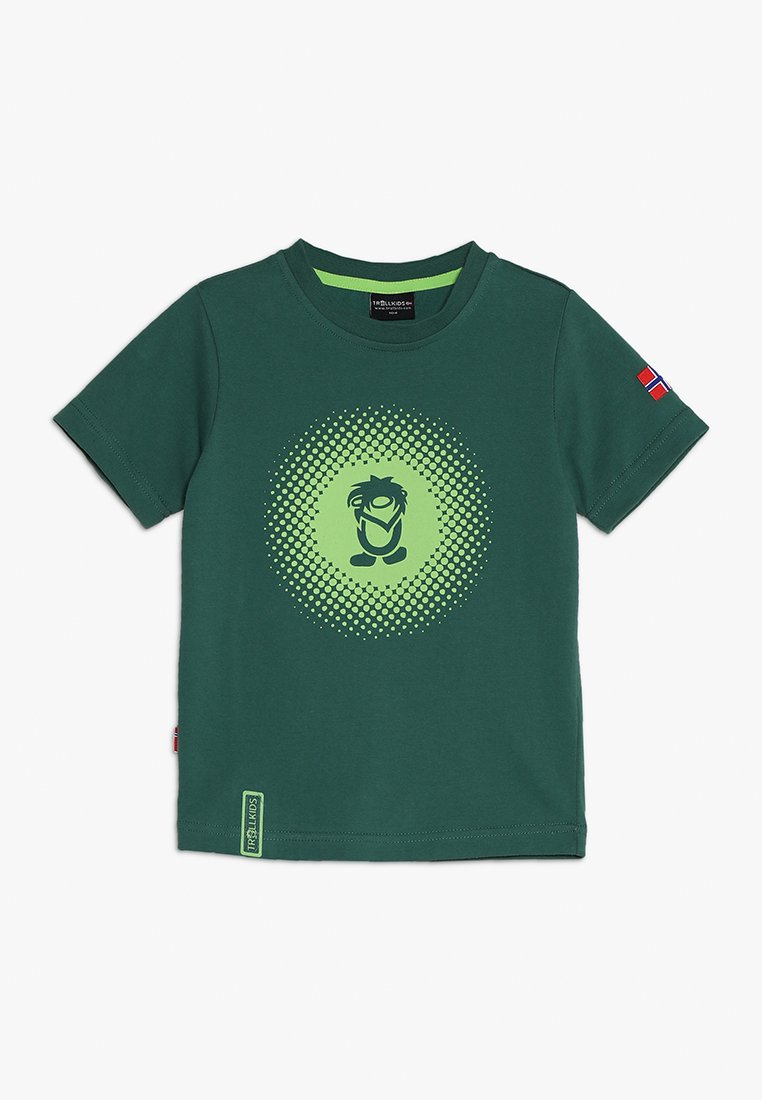TrollKids - KIDS POINTILLISM - Triko spotiskem - dark green/light green
