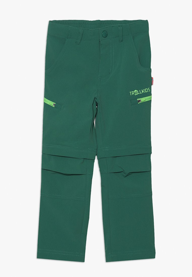 TrollKids - KIDS KJERAG ZIP OFF PANTS - Kangashousut - dark green