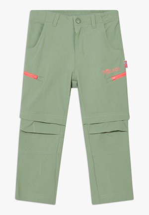 KIDS KJERAG ZIP OFF PANTS - Trousers - olive/coral