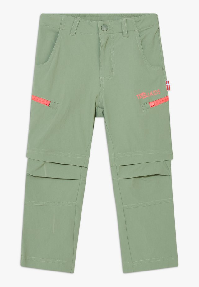 KIDS KJERAG ZIP OFF PANTS - Tygbyxor - olive/coral