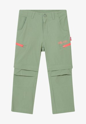 KIDS KJERAG ZIP OFF PANTS - Bukser - olive/coral