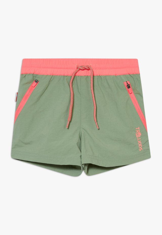 GIRLS ARENDAL - Shorts - olive/coral