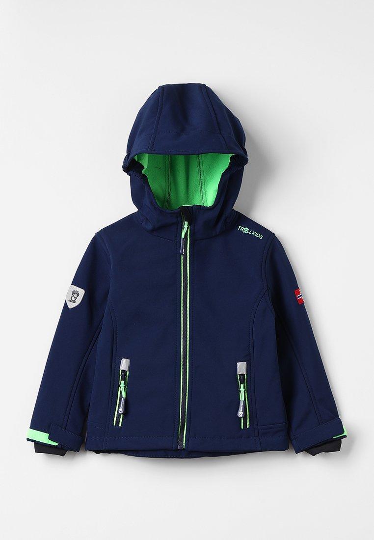 TrollKids - KIDS TROLLFJORD JACKET - Soft shell jacket - navy/light green
