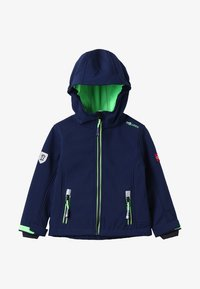 TrollKids - KIDS TROLLFJORD JACKET - Soft shell jacket - navy/light green - 5