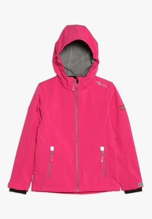 GIRLS TROLLFJORD JACKET - Soft shell jacket - magenta/grey