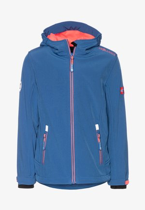 GIRLS TROLLFJORD JACKET - Kurtka Softshell - midnight blue/coral