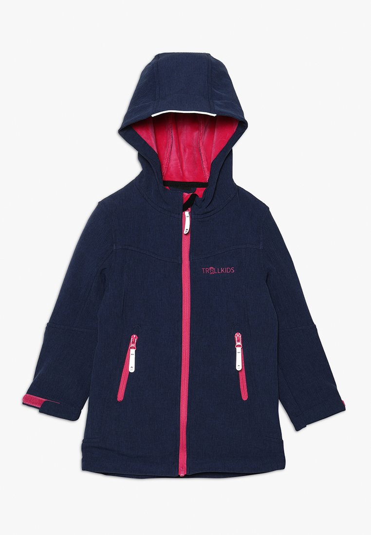 TrollKids - GIRLS LILLESAND COAT - Softshelljas - navy/magenta