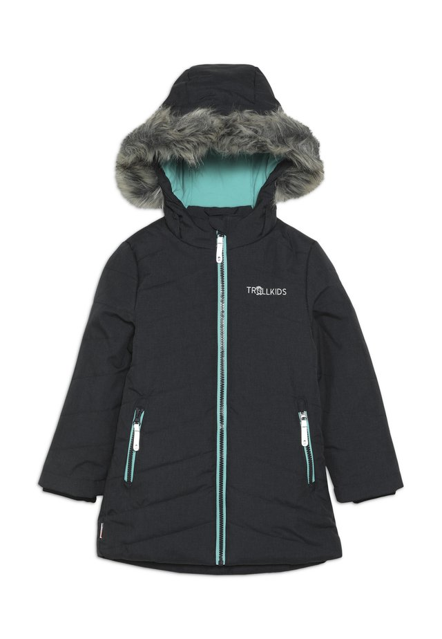 GIRLS LIFJELL JACKET - Talvitakki - anthracite melange/mint