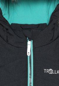 TrollKids - GIRLS LIFJELL JACKET - Chaqueta de invierno - anthracite melange/mint - 5