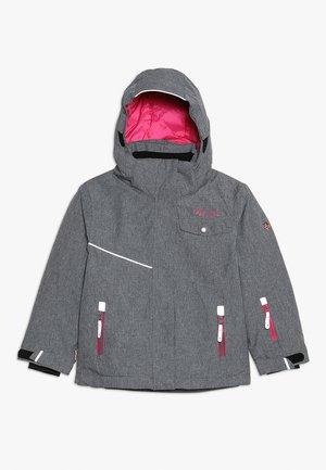 GIRLS HOVDEN JACKET - Ski jacket - grey melange/magenta