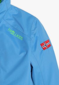 TrollKids - KIDS BRYGGEN JACKET 2-IN-1 - Hardshell jacket - medium blue/bright green - 5