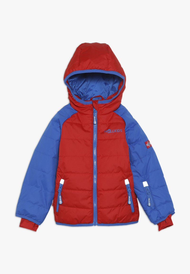 TrollKids - KIDS HAFJELL SNOW JACKET  - Lyžařská bunda - medium blue/red