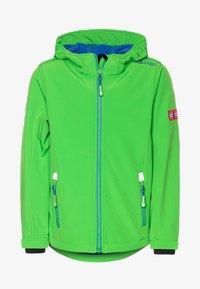 TrollKids - KIDS TROLLFJORD - Softshellová bunda - bright green/med blue - 0