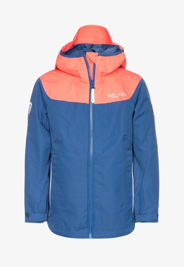 KIDS BERGEN - Hardshell jacket - midnight blue/coral