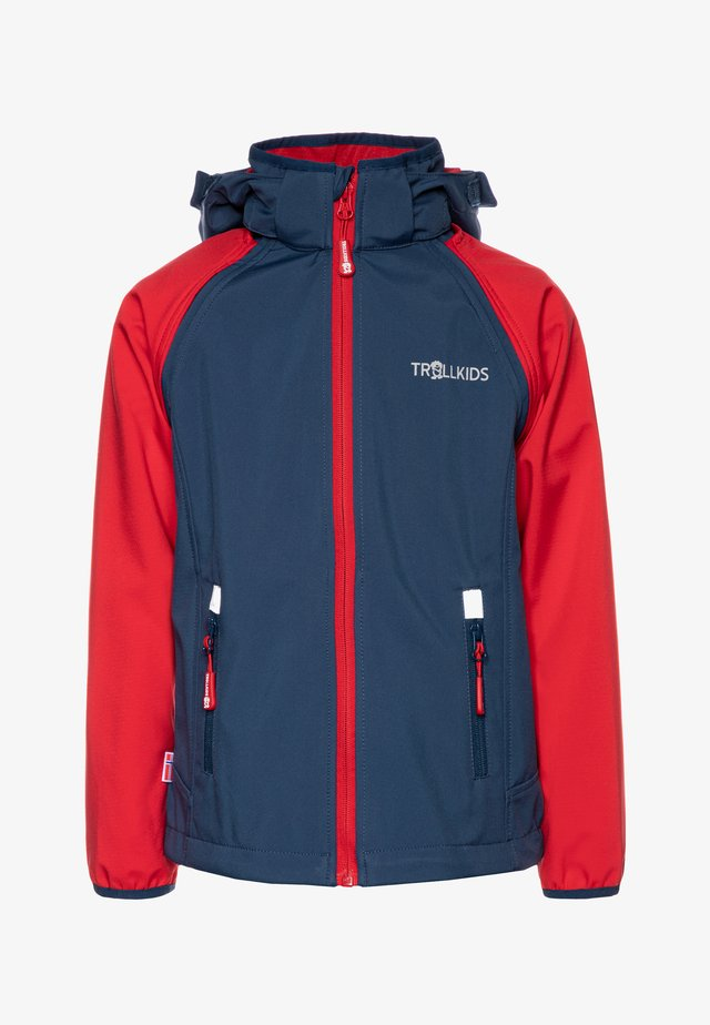 KIDS RONDANE ZIP OFF 2-IN-1 - Giacca softshell - bright red/mystic blue