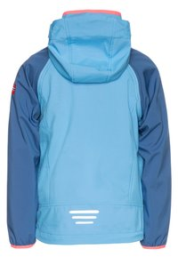 TrollKids - KIDS RONDANE ZIP OFF 2-IN-1 - Softshellová bunda - midnight blue/cerulean/coral - 1