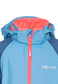 TrollKids - KIDS RONDANE ZIP OFF 2-IN-1 - Softshellová bunda - midnight blue/cerulean/coral - 4