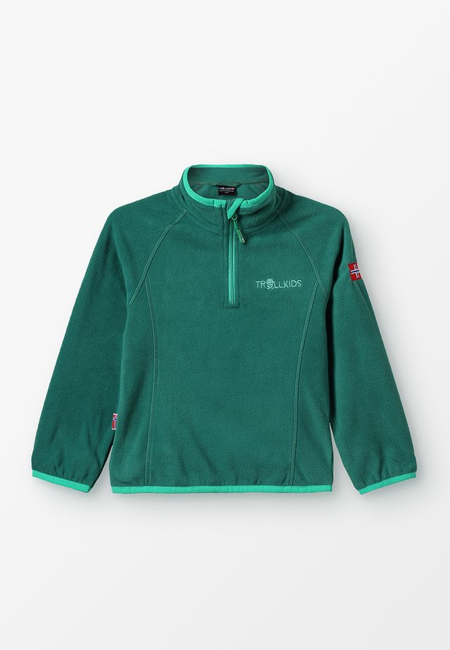 KIDS NORDLAND HALF ZIP - Fleecepaita - dark green