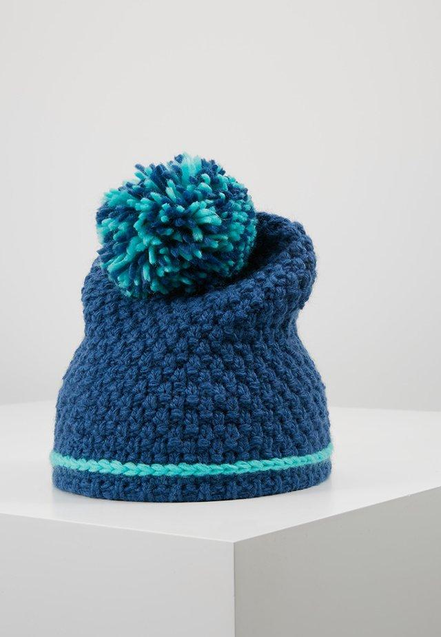GIRLS HEMSEDAL BOBBLE CAP - Muts - midnight blue/dark mint