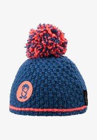 TrollKids - GIRLS HEMSEDAL BOBBLE CAP - Beanie - midnight blue/coral - 2