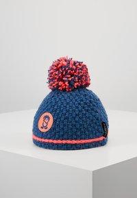 TrollKids - GIRLS HEMSEDAL BOBBLE CAP - Beanie - midnight blue/coral - 1