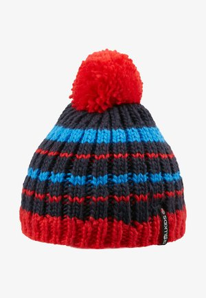 KIDS HAFJELL BOBBLE - Čepice - navy/med blue/red