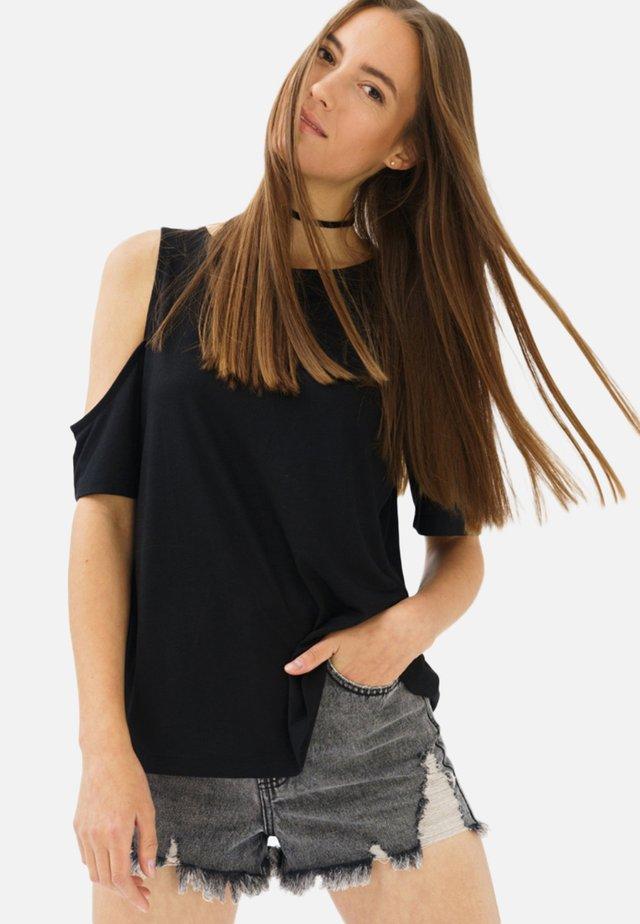 REINA  - Print T-shirt - black