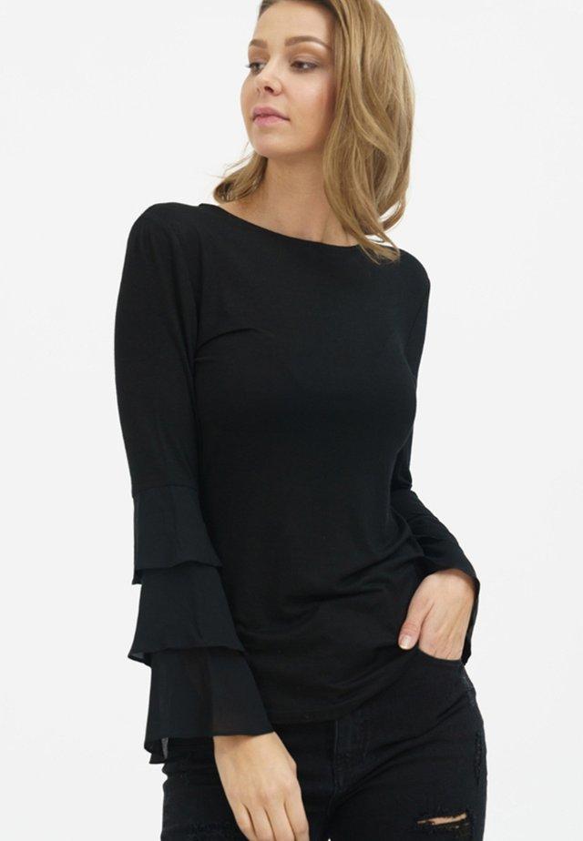 CLEO - Long sleeved top - black