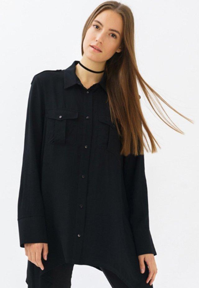 REBEKKA - Button-down blouse - black