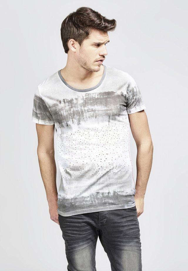 MIT MODISCHEM AUFDRUCK - Print T-shirt - 5203-darkgrey