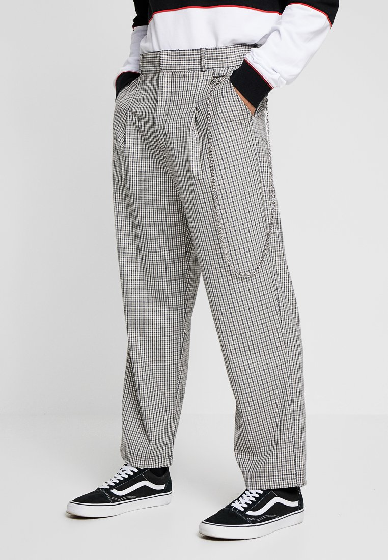 The Ragged Priest - TWEED TROUSERS WITH CHAIN - Pantalon classique - tan/grey
